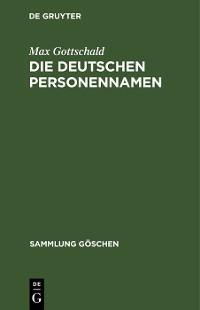 Cover Die Deutschen Personennamen