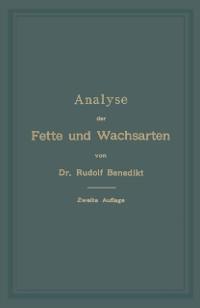 Cover Analyse der Fette und Wachsarten