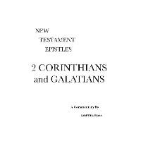 Cover 2 Corinthians and Galatians