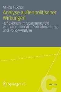 Cover Analyse außenpolitischer Wirkungen