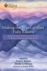 Cover Making the Word of God Fully Known