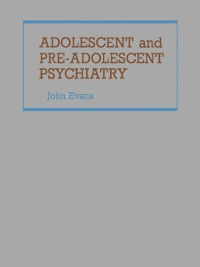 Cover Adolescent and Pre-Adolescent Psychiatry