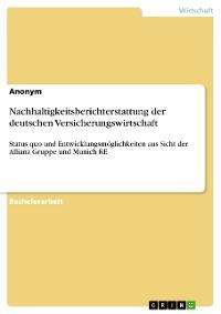 Cover Nachhaltigkeitsberichterstattung der deutschen Versicherungswirtschaft