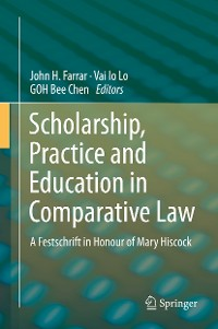 Cover Scholarship, Practice and Education in Comparative Law