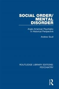 Cover Social Order/Mental Disorder