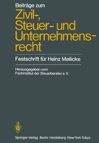 Cover Beitrage zum Zivil-, Steuer- und Unternehmensrecht