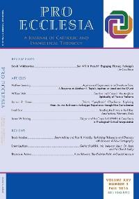 Cover Pro Ecclesia Vol 25-N4