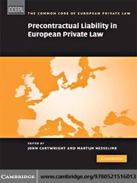 Cover Precontractual Liability in European Private Law
