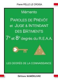 Cover Mémento 7e et 8e degrés du R.E.A.A.