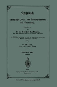 Cover Jahrbuch der Preuischen Forst- und Jagdgesetzgebung und Verwaltung