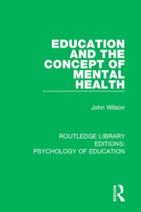 Cover Education and the Concept of Mental Health