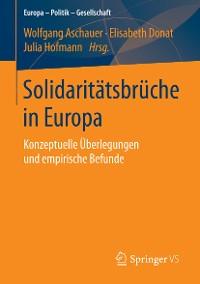 Cover Solidaritätsbrüche in Europa
