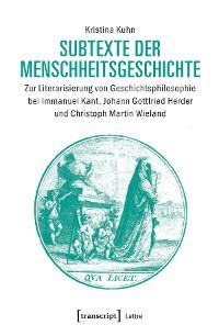 Cover Subtexte der Menschheitsgeschichte