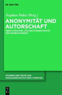Cover Anonymität und Autorschaft
