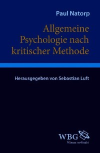 Cover Allgemeine Psychologie nach kritischer Methode