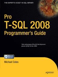 Cover Pro T-SQL 2008 Programmer's Guide