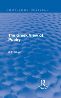 Cover Greek View of Poetry