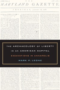 Cover The Archaeology of Liberty in an American Capital