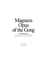 Cover Magnum Opus of the Gong