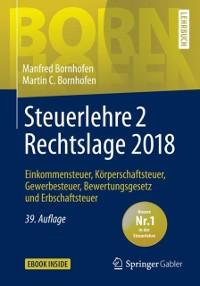 Cover Steuerlehre 2 Rechtslage 2018