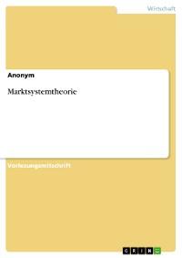 Cover Marktsystemtheorie