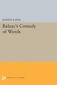 Cover Balzac's Comedy of Words