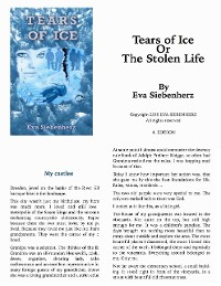 Cover Tears of Ice or The Stolen Life
