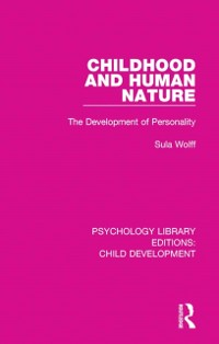 Cover Childhood and Human Nature
