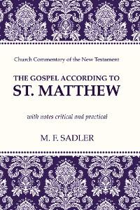 Cover The Gospel According to St. Matthew