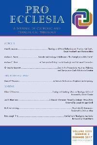 Cover Pro Ecclesia Vol 26-N3