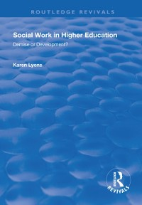 Cover Social Work in Higher Education