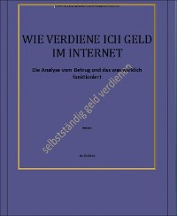 Cover Wie Verdiene ich Geld im Internet