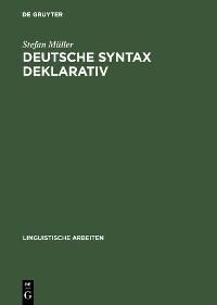 Cover Deutsche Syntax deklarativ