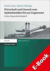 Cover Wirtschaft und Umwelt vom Spätmittelalter bis zur Gegenwart