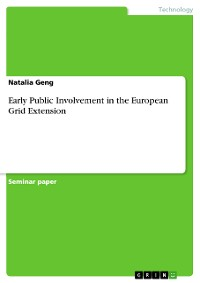 Cover Early Public Involvement in the European Grid Extension