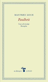 Cover Faulheit