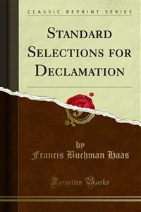 Cover Standard Selections for Declamation