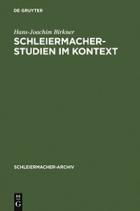 Cover Schleiermacher-Studien im Kontext