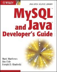 Cover MySQL and Java Developer's Guide