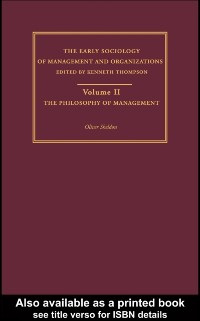 Cover Philosophy of Management