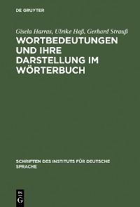 Cover Wortbedeutungen und ihre Darstellung im Wörterbuch