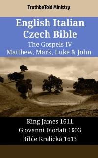 Cover English Italian Czech Bible - The Gospels IV - Matthew, Mark, Luke & John