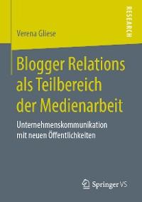Cover Blogger Relations als Teilbereich der Medienarbeit