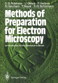 Cover Methods of Preparation for Electron Microscopy