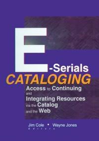 Cover E-Serials Cataloging