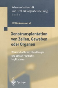 Cover Xenotransplantation von Zellen, Geweben oder Organen