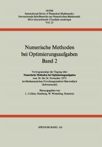 Cover Numerische Methoden bei Optimierungsaufgaben