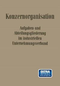 Cover Konzern-Organisation