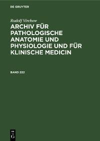 Cover Rudolf Virchow: Archiv für pathologische Anatomie und Physiologie und für klinische Medicin. Band 222