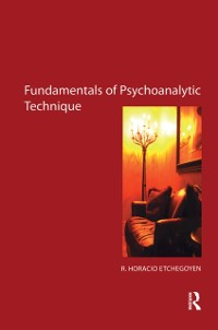 Cover Fundamentals of Psychoanalytic Technique